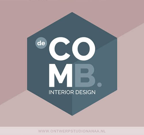 Logo ontwerp, huisstijl ontwerp, logo, huisstijl, hexagon logo, hexagon patroon, interieurarchitect logo | Ontwerpstudio Nanaa